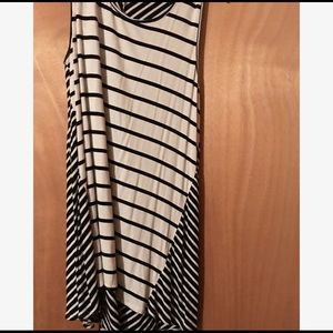 Black and White Striped Umgee Tank Top
